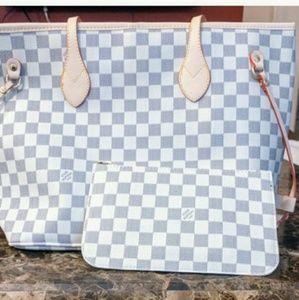 Louis Vuitton Neverfull azur Tote Bag Set